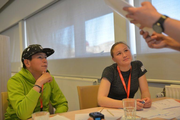 Medlemmer af NAKUUSAs børneråd. I hele 2018 samler Gentofte Kommune bl.a. ind til et børneråd i Østgrønland