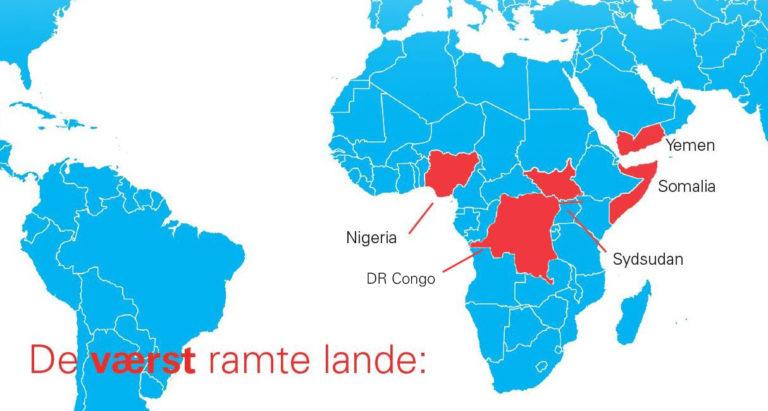 Sultkatastrofens uhyggelige omfang - Sult i DR Congo, Somalia, Nigeria, Sydsudan og Yemen