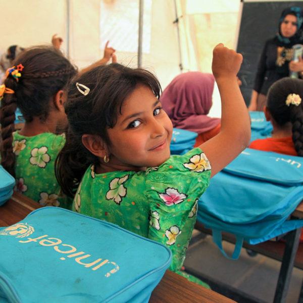 Irakiske skolebørn har fået UNICEF skoletasker