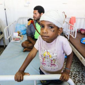 Jordskælv har store konsekvenser for børn | UNICEF/Bell/2018/Earthquake/Papa-New-Guinea