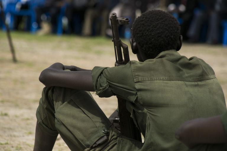 børnesoldater blev frigivet ved en ceremoni