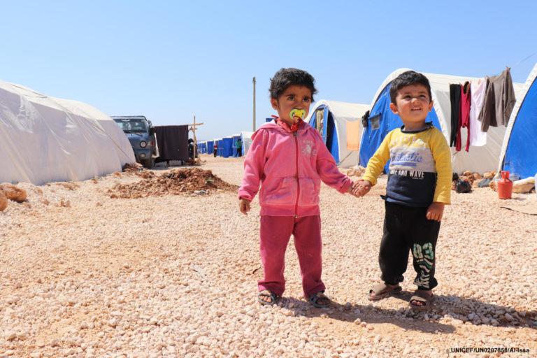 UNICEF/2018/Internally-displaced/children/Syria