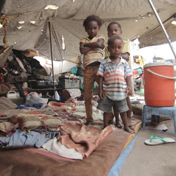 Yemen flygtningelejr flugt