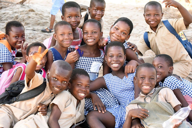 Gruppe af børn på elfenbenskysten
