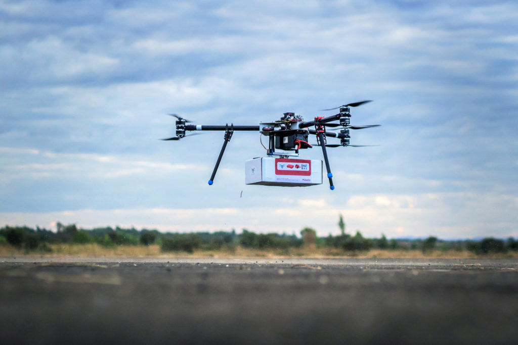 Innovation drone får blodprøve hurtigt til HIV test i Malawi