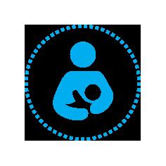 UNICEF kæmper for at børn kan få en god start på livet bla gennem amning.