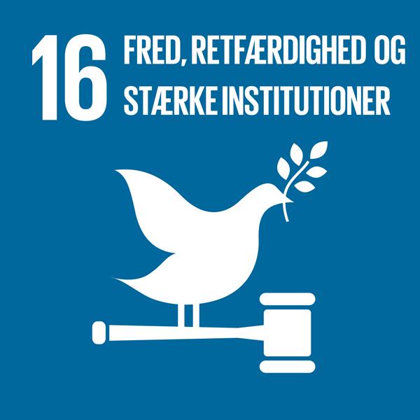 Verdensmål 16: Fred, retfærdighed og stærke institutioner