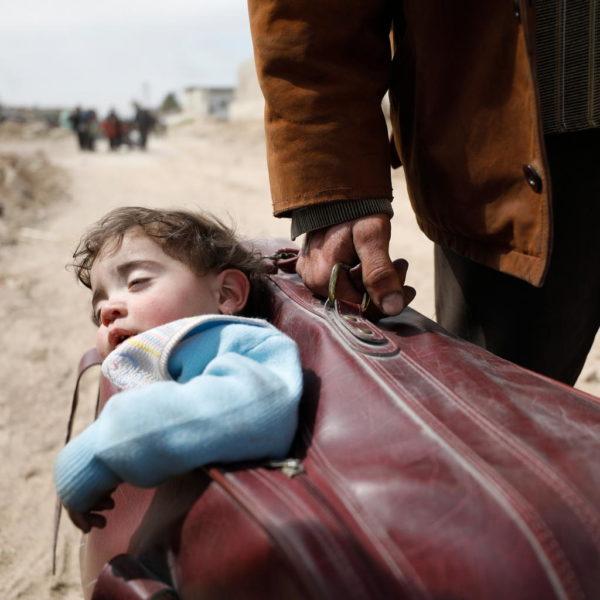 Syrien flugt kuffert
