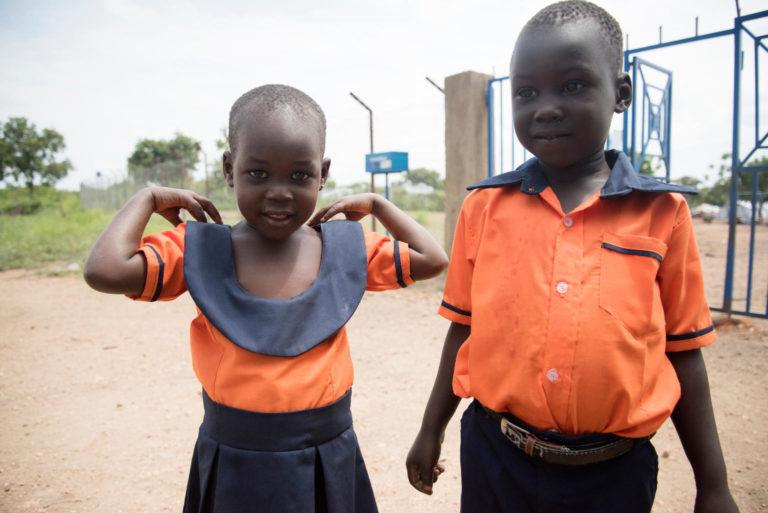 4 årige Boniface Wani og hans søster