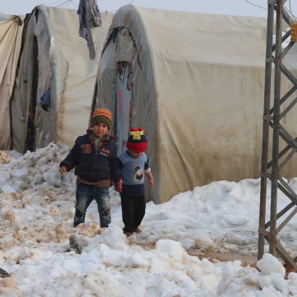 Syriens børn fryser vinter vinteren