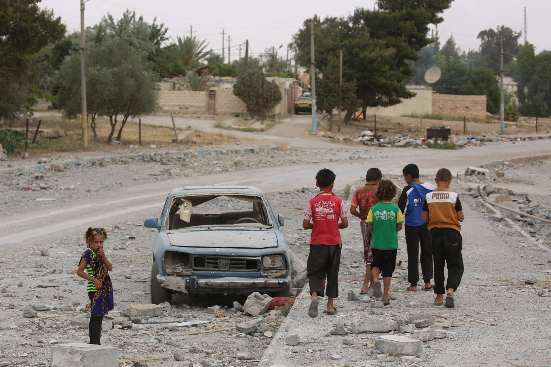 Syriens børn går på gaden under krigen