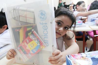 UNICEF driver og støtter flere skoler for syriske børn, der er flygtet - som her i Tyrkiet.