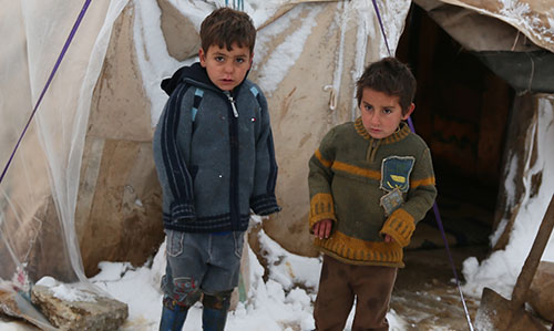 Syrien fryser vinter