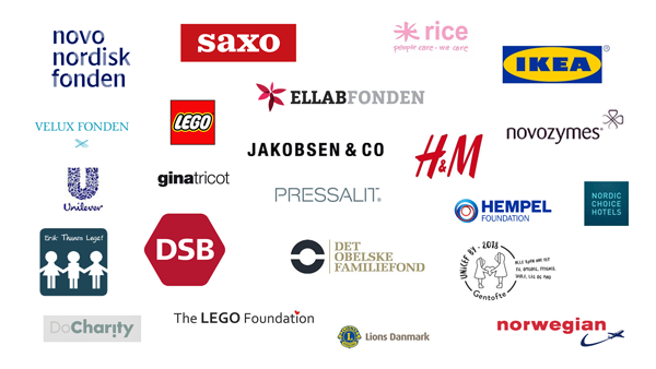 UNICEF Danmarks partnere