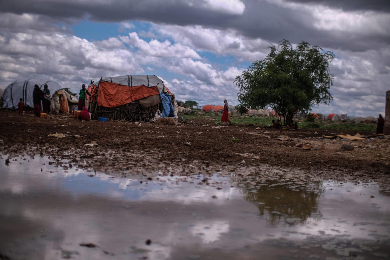 Flygtningelejren Baidoa i Somalia.