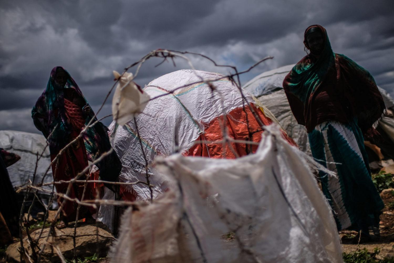 Nyankomne til flygtningelejren Baidoa.