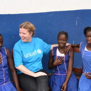Kommunikationsdirektør Line Hermansen besøgte i 2018 Sierra Leone