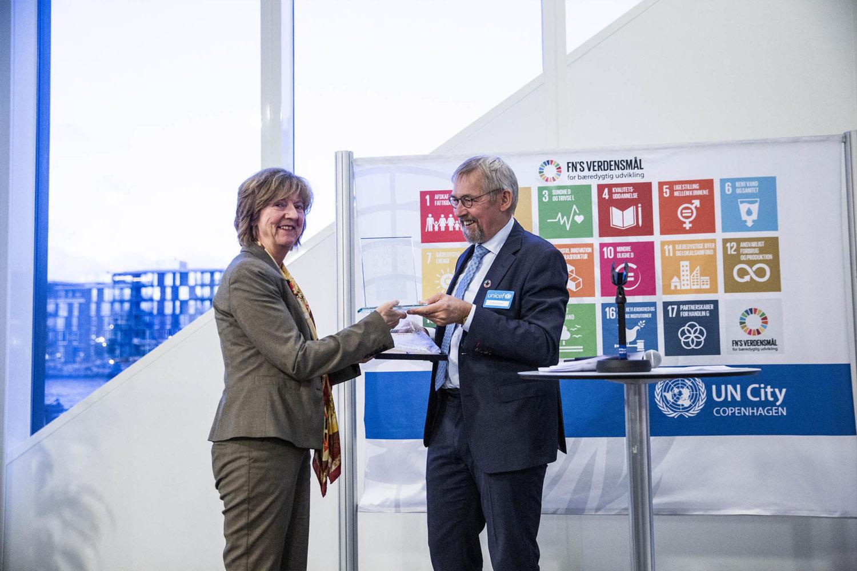 Årets UNICEF Pris gik til Kirsten Sandberg. Foto: Lise Balsby/2018