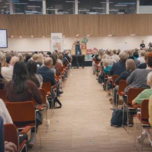 Lakserytteren er på scenen ved Børnetopmøde 2018 i FN Byen