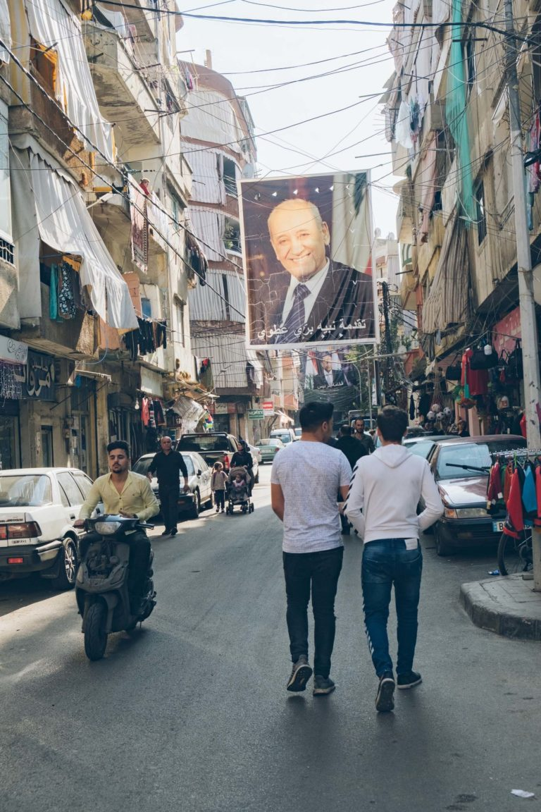 Ali og Shubi går tur i Beiruts gader