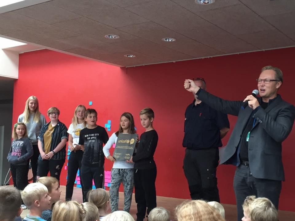 Nordbyskolen i Nykøbing Falster blev certificeret UNICEF Rettighedsskole