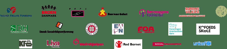 Logoer for afsendere af brev om børnefattigdom