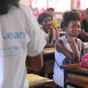 Piger i skole i Madagascar Danmarks Indsamling 2019
