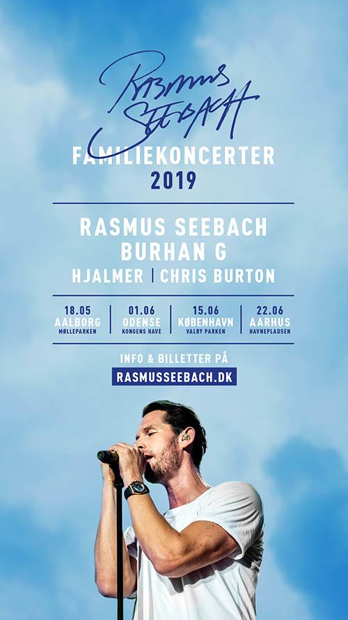 Rasmus Seebach optræder til dette års Familiekoncerter rundt om i Danmark - alle koncerterne