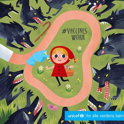 #VaccinesWork. Skabt af @meldraws