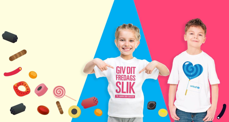 Giv dit fredagsslik til børn, der sulter