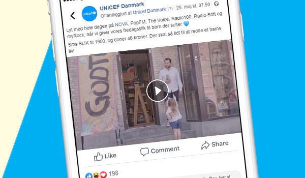 Del vores Fredagsslik video på facebook