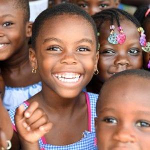 Børnehaveklassebørn i Elfenbenskysten.