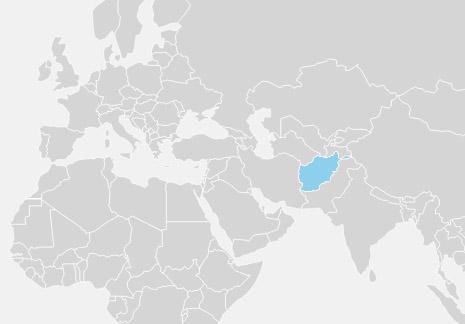 Afghanistan er placeret i Centralasien og Sydasien og grænser op til Pakistan, Iran, Turkmenistan, Usbekistan, Tadsjikistan og Kina.