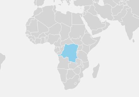 DR Congo er det største land i Subsaharisk Afrika