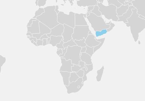 Yemen er placeret i det sydlige hjørne af den arabiske halvø og grænser til Saudi-Arabien i Nord, Oman i øst, Det Røde Hav i vest og Adenbugten i Syd.