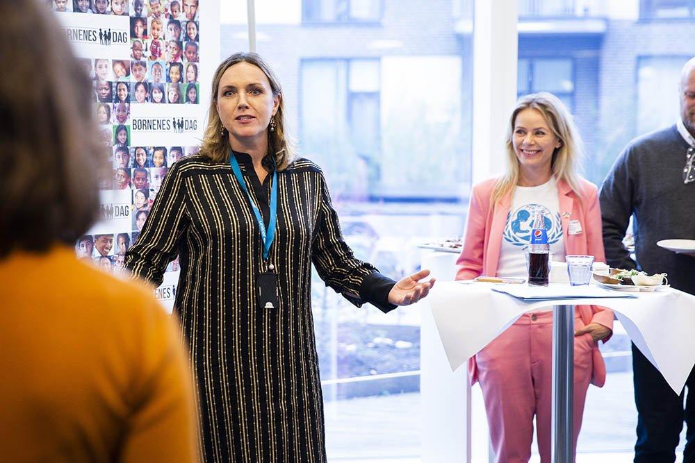 UNICEF Danmarks Generalsekretær Karen Hækkerup taler til Stærke Stemmer netværksarrangementet under Børnenes Dag 2019.