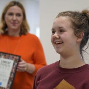 Danske skoleelever modtager UNICEF Prisen 2020